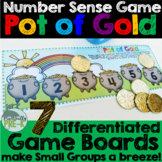 St. Patrick's Day Math Game: Pot of Gold (Numbers 1-6 or 1-12)