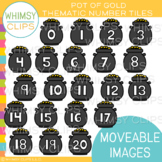 Pot of Gold Number Tiles Clip Art {MOVEABLE IMAGES}