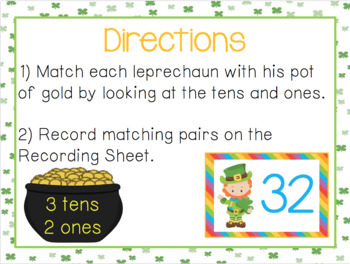 St. Patrick's Day Place Value Game