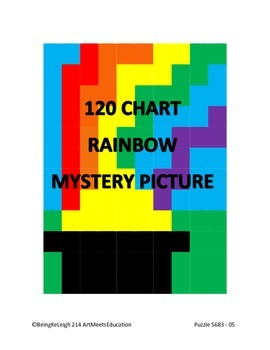 Pot of Gold Rainbow - 120 Chart Mystery Picture!