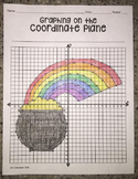 Pot of Gold & Rainbow (Graphing on the Coordinate Plane/ Mystery Picture)