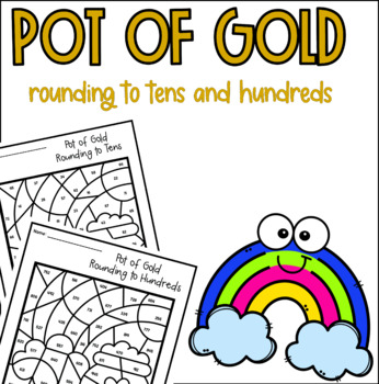 Pot of Gold Rounding Color by Number