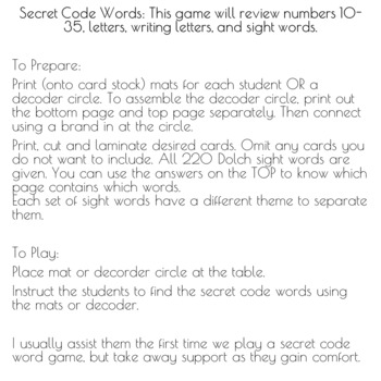 Pot of Gold {Secret Code Words}