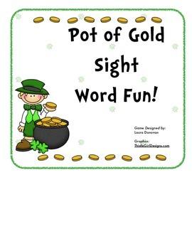 Pot of Gold Sight Word Fun