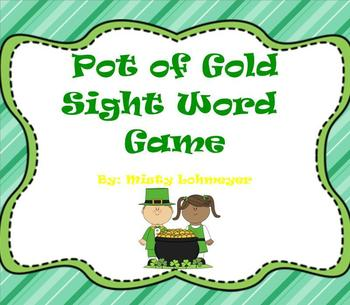 Pot of Gold Sight Word Game