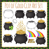Pot of Gold - St Patrick's Day Clip Art Set for Commercial Use