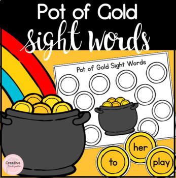 Pot of Gold St-Patrick's Day Sight Word Literacy Activity