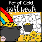 Pot of Gold St-Patrick's Day Sight Word Literacy Activity