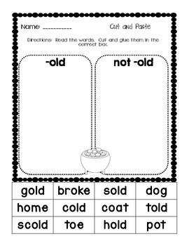 """""""Pot of Gold"""" - Teaching the Word Family -old"""