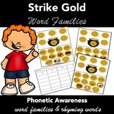 Pot of Gold Word Families - Task Cards. Work Mats Activity