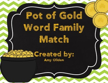 Pot of Gold Word Family Match