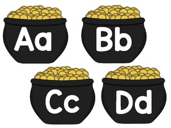 Pot of Gold Word Wall Letters