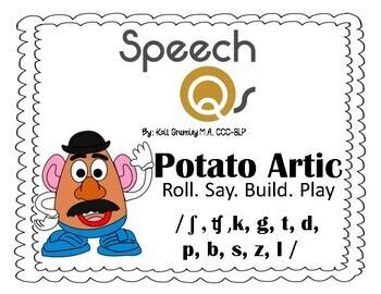 Potato Artic Bundle-NO PREP- / ʃ , ʧ ,k, g, t, d,  p, b, s, z, l /