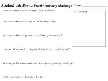 Potato Battery: Engineering Challenge Project ~ Great STEM Activity!
