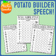 Potato Builder Speech: No Prep Articulation Sheets Toy Companion