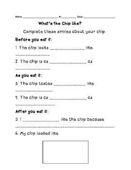 Potato Chip Similes