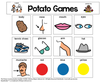 Potato Games Visual Support {for Autism}