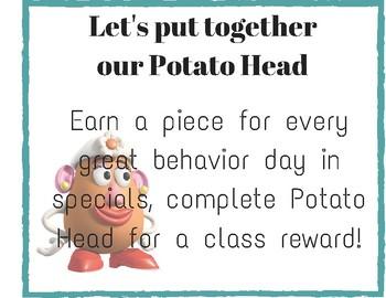 **FREEBIE** Potato Head Sign