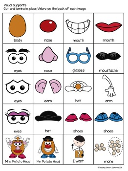 Potato Head Visuals and Activities for Early Interventon (Autism)