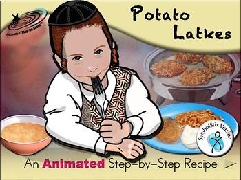 Potato Latkes - Animated Step-by-Step Recipe SymbolStix