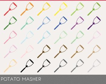 Potato Masher Digital Clipart, Potato Masher Graphics, Potato Masher PNG