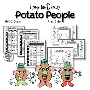 Potato People Directed Drawing and Story Writing Activity