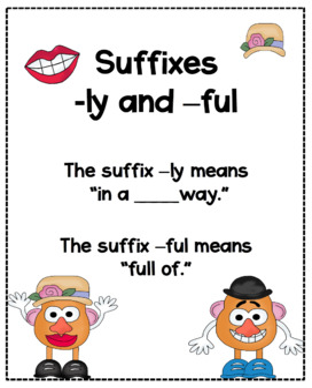 Mr. Potato Head Suffix Match