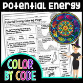 Potential Energy Science Color By Number or Quiz