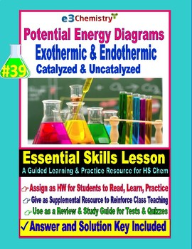 Potential Energy Diagrams:, Catalyzed & Uncatalyzed: Essential Skills Lesson #39