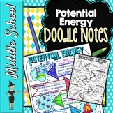 Potential Energy Doodle Notes | Science Doodle Notes