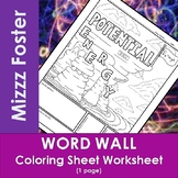Potential Energy Word Wall Coloring Sheet