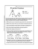 Potential Energy and Kinetic Energy Worksheet