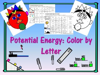 Potential Energy (conceptual): Color by Letter