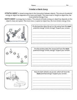 Kinetic Energy Mass Speed Worksheets & Teaching Resources | TpT