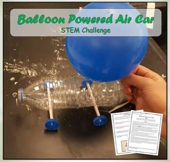 STEM Challenge - Balloon Powered Air Car - (Fun Experiment)
