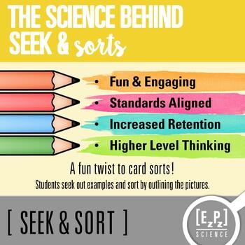 Potential & Kinetic Energy Seek & Sort Doodle Page and Card Sort