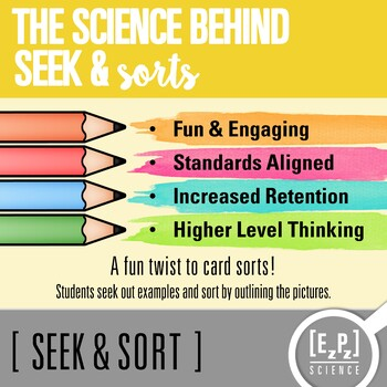 Potential & Kinetic Energy Seek and Sort Science Doodle & Card Sort