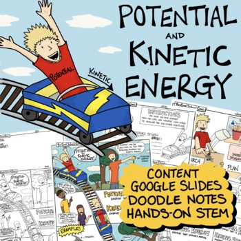 Potential and Kinetic Energy Comic with Doodle Notes