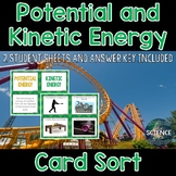 Potential and Kinetic Energy Card Sort