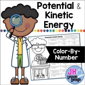 Potential and Kinetic Energy Color-By-Number