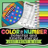 Potential and Kinetic Energy - Color By Number Worksheet