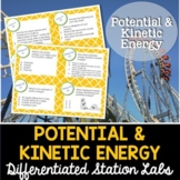 Potential and Kinetic Energy Student-Led Station Lab - Distance Learning