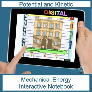 Potential and Kinetic Energy Digital Interactive Notebook