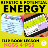 Potential and Kinetic Energy | Flip Book | 4th Grade Science