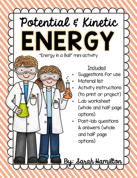 Potential and Kinetic Energy - Mini Activity