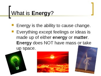 Potential and Kinetic Energy PowerPoint