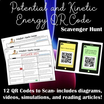 Potential and Kinetic Energy QR Code Scavenger Hunt
