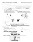 Potential and Kinetic Energy Review Sheet