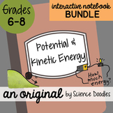 Potential and Kinetic Energy Interactive Notebook Doodle BUNDLE - Science Notes