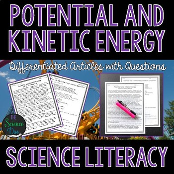 Potential and Kinetic Energy Science Literacy Article - Distance Learning